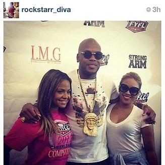 Flo Rida sur le tapis rouge avec Christina Milian