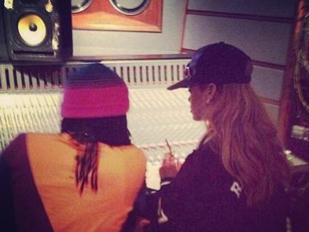 Rihanna en studio !