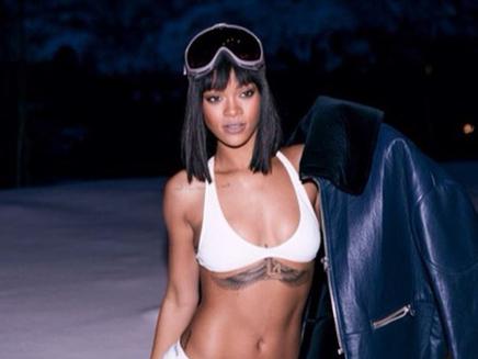 Rihanna : en bikini même au ski !