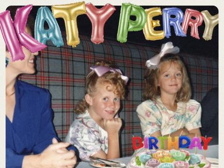 Katy Perry : découvrez-la enfant sur la pochette de son nouveau hit!