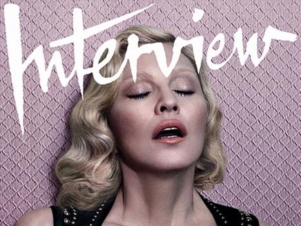 Madonna : topless en couverture du magazine Interview!