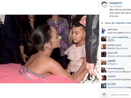 Rihanna : ce que lui a dit Blue Ivy lors des Grammy!