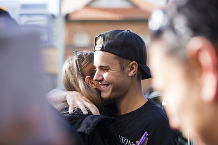Justin Bieber avec ses fans en Australie