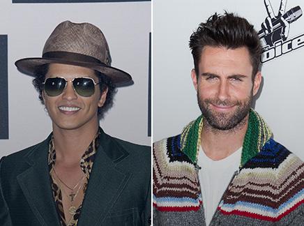 Bruno Mars et Adam Levine : bientôt leur étoile à Hollywood!