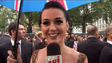 Katy Perry rayonnante sur le tapis rouge � Londres !