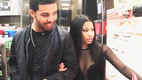 Nicki & Drake on the set of Usher's She Came to Give It to You video