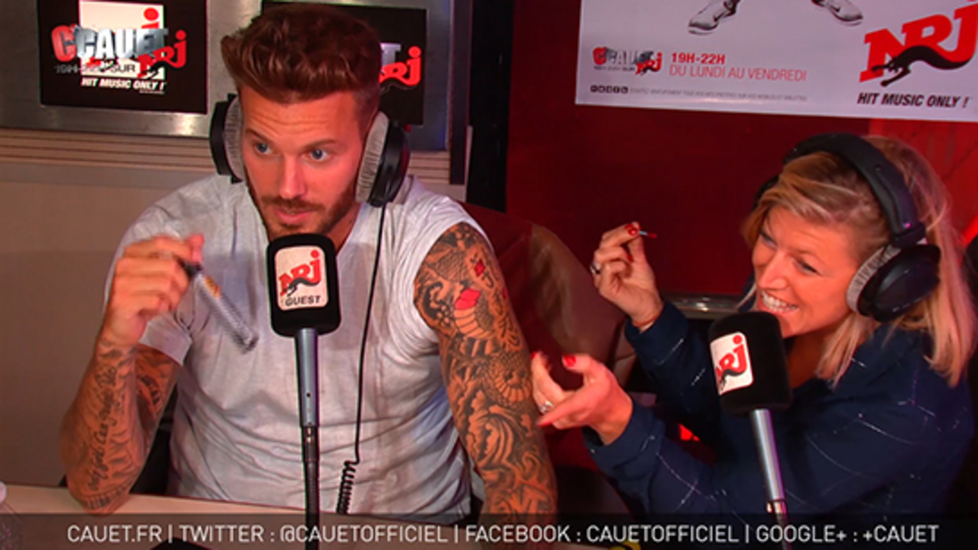 Julie re-tatoue M Pokora