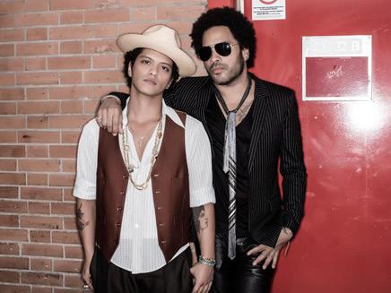 Bruno mars et Lenny Kravitz - Bercy©Twitter-Lenny Kravitz