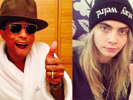 Pharrell Williams : en studio avec Cara Delevingne!