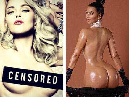 Madonna réagit à la photo de Kim Kardashian !