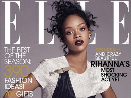 Rihanna : sexy et glamour en couverture du magazine ELLE!