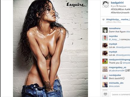 Rihanna : sexy et topless pour la magazine Esquire!