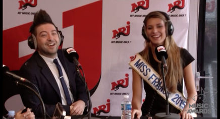 Mourad chante pour Miss France chez Manu sur NRJ! - NRJ Music Awards 2014