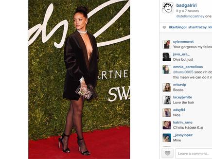 Rihanna : sexy et très décolletée pour les British Fashion Awards!