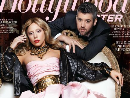 Lady Gaga : glamour en une de The Hollywood Reporter!