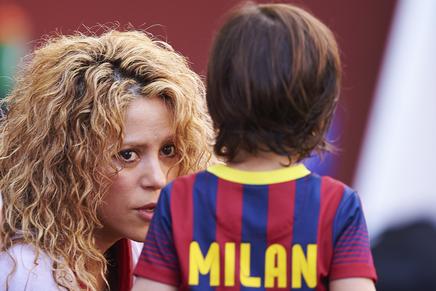 Shakira et Milan à un match de Barcelone