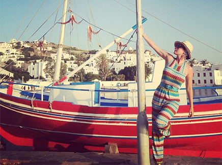 Katy Perry en Grèce