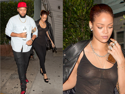 Rihanna : sortie sans soutien-gorge avec son frère!