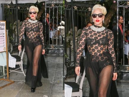 Lady Gaga : elle ose la transparence dans les rues de Los Angeles!