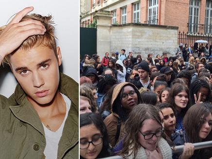 Justin Bieber: des centaines de fans pour l'attendre devant NRJ!