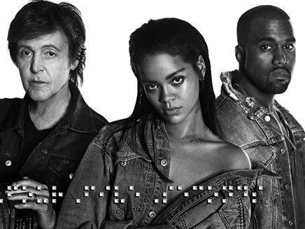Rihanna, Paul McCartnez et Kanye West