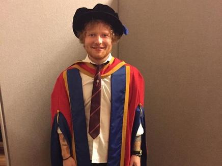 Ed Sheeran  : il devient docteur!