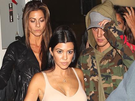 Justin Bieber: soirée entre amis avec Kourtney Kardashian!
