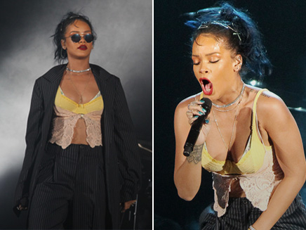 Rihanna: super sexy sur scène à Hollywood!