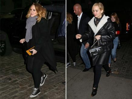 Adele: sortie au restaurant avec Jennifer Lawrence et Emma Stone!