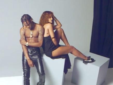 Rihanna dévoile les coulisses de son shooting avec Travis Scott!