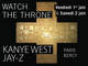 Watch the Throne: billetterie enfin ouverte!